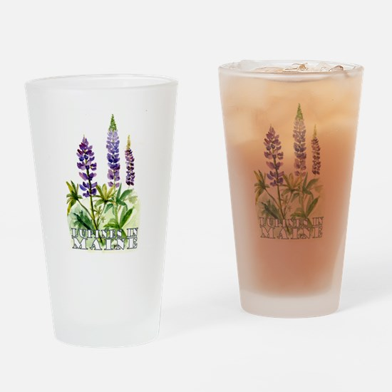 Maine Lupine Drinking Glass