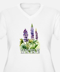 Maine Lupine Plus Size T-Shirt