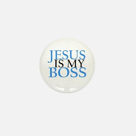 Jesus Is My Boss Mini Button