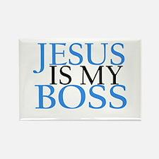Jesus is my boss Magnets