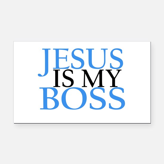 Jesus is my boss Rectangle Car Magnet