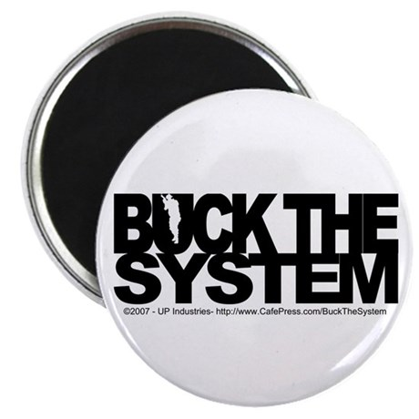 """Buck The System 2.25"""" Magnet (100 pack)"""