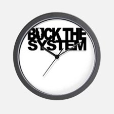 Buck The System Wall Clock