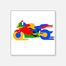 Speeding Motorbike Sticker