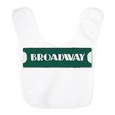Broadway Street Sign Bib