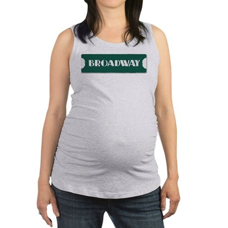 Broadway Street Sign Maternity Tank Top