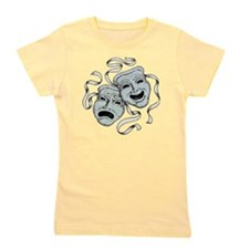 Vintage Comedy Tragedy Mask Girl's Tee