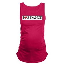 iheart2dance.png Maternity Tank Top