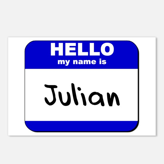 hello my name is julian  Postcards (Package of 8)