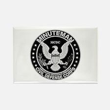 Minuteman Civil Defense Rectangle Magnet