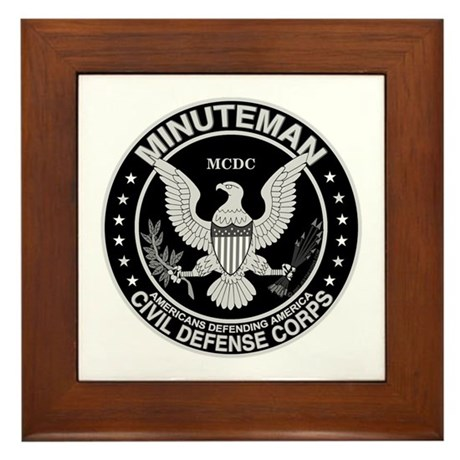Minuteman Civil Defense Framed Tile