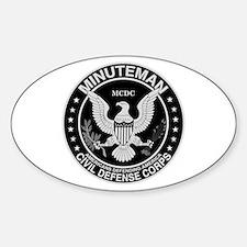 Minuteman Civil Defense Oval Decal