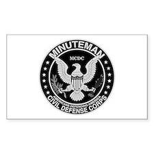 Minuteman Civil Defense Rectangle Decal