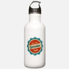Retro Genuine Quality Since 1990 Label Water Bottle