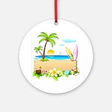 Tropical Surd Round Ornament