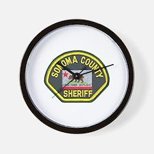 Sonoma County Sheriff Wall Clock