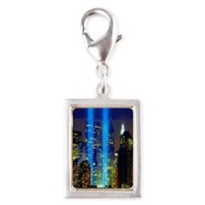 911 Twin Towers Silver Portrait Charm