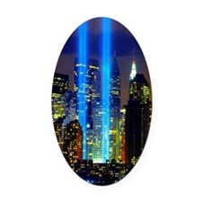 911 Twin Towers Oval Car Magnet