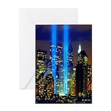 911 Twin Towers Greeting Card