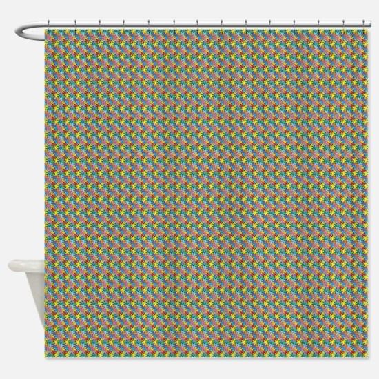 Rainbow Escher Quincys Shower Curtain