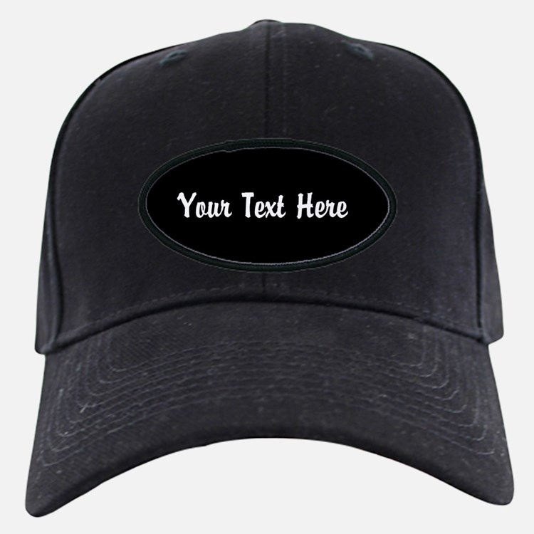 BLACK: Personalize Baseball Hat