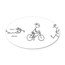 Funny Ironic Oval Car Magnet