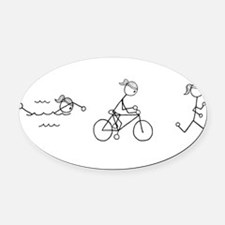Unique Triathlete Oval Car Magnet