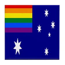 Rainbow Pride Australian Flag Tile Coaster