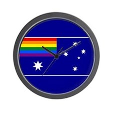Rainbow Pride Australian Flag Wall Clock