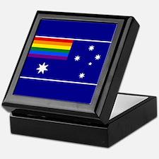Rainbow Pride Australian Flag Keepsake Box