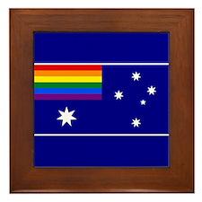 Rainbow Pride Australian Flag Framed Tile