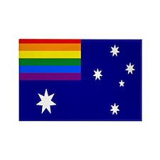 Rainbow Pride Australian Flag Rectangle Magnet