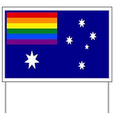 Rainbow Pride Australian Flag Yard Sign