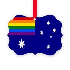 Rainbow Pride Australian Flag Ornament