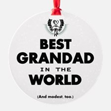 The Best in the World Best Grandad Ornament