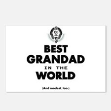 The Best in the World Best Grandad Postcards (Pack