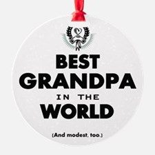 The Best in the World Best Grandpa Ornament