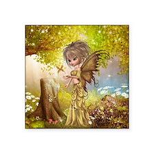 """Little Fall Fairy Square Sticker 3"""" x 3"""""""
