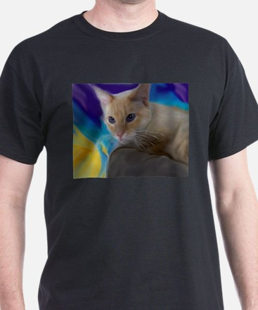 Funny Flame point cat T-Shirt