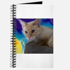 Unique Flame point siamese cat Journal