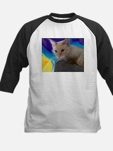 Unique Siamese cat fine art Tee