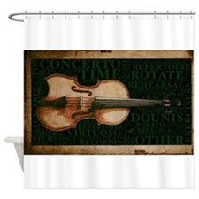 Violin Practice Graphic Shower Curtain