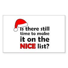 Nice List Decal
