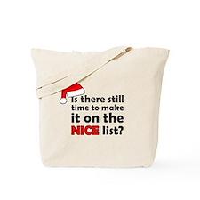 Nice List Tote Bag