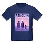 Penguin Family Kids Dark T-Shirt