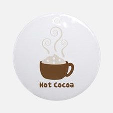 Hot Cocoa Ornament (Round)