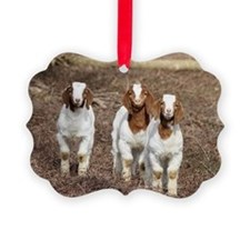 Smiling goats Ornament