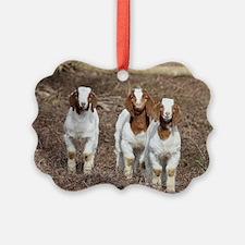 Smiling goats Ornament