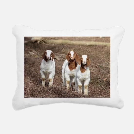 Smiling goats Rectangular Canvas Pillow
