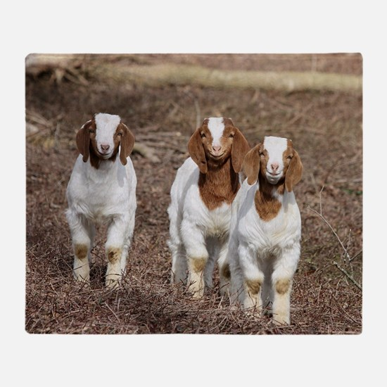 Smiling goats Throw Blanket